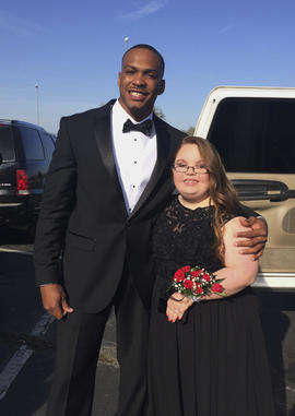 CORRECTION NFL Player Special Needs Prom