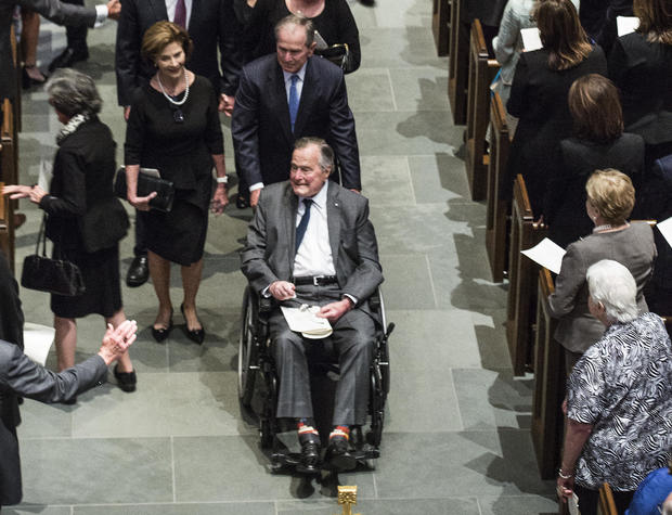 George H.W. Bush -- Barbara Bush funeral
