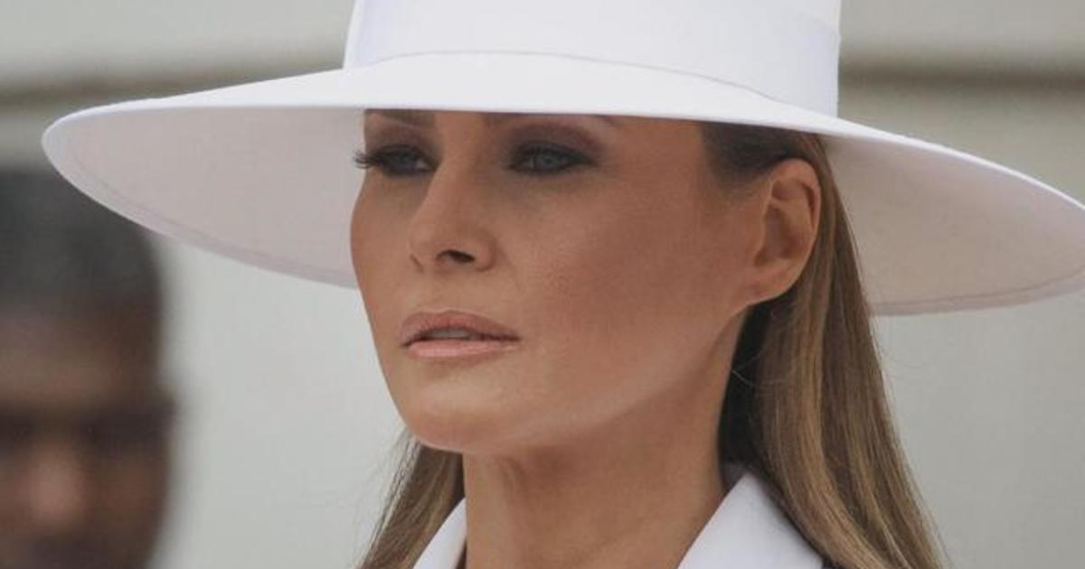 Melania Trump S Hat Has The Internet In Formation Comparing Her To Beyonce Cbs News