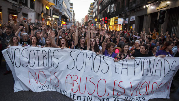 Protests in Spain over verdict