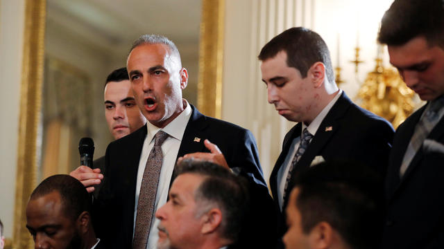 FILE PHOTO: Marjory Stoneman Douglas High School parent Andrew Pollack discusses the death of his daughter Meadow in the Parkland school shooting, at the White House in Washington