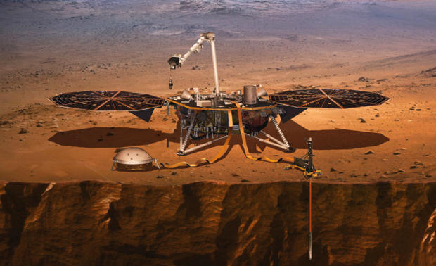 NASA launches InSight lander toward Mars
