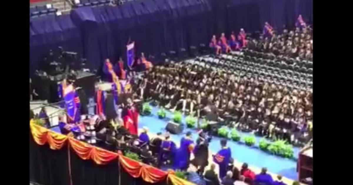 University of Florida apologizes after professor pushes students at  graduation