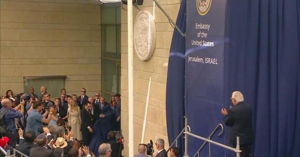 U S  Embassy in Israel officially moves to Jerusalem, sparking protests
