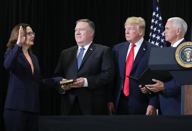 Gina Haspel sworn in as CIA's first female director (cbsnews.com)
