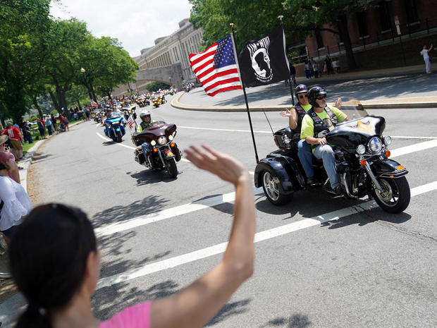 Riders participate in the 31st annual Rolling Thunder motorcycle rally in Washington