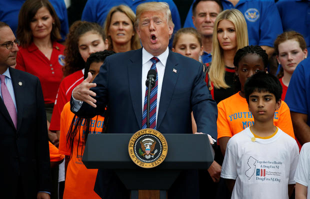 U.S. President Trump hosts White House Sports and Fitness Day in Washington