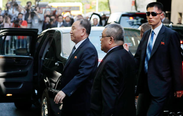 North Korean envoy Kim Yong Chol arrives at a hotel in New York