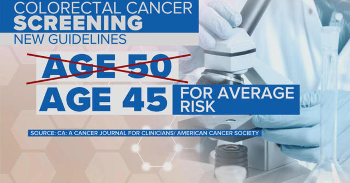 Colorectal Cancer Screening Should Start At 45 New Guidelines Say Cbs News