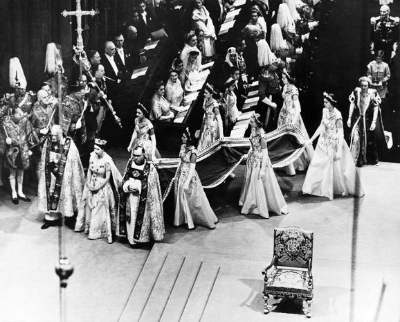 Queen Elizabeth II's coronation regalia