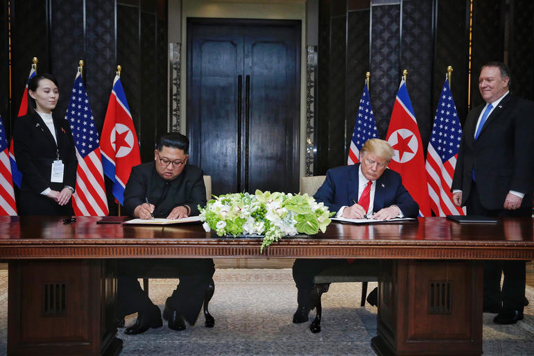 Trump, Kim -- U.S.-North Korea summit