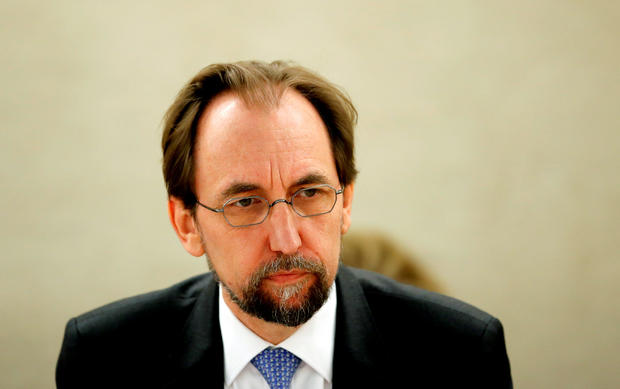 Zeid outgoing UN High Commissioner for Human Rights attends the Human Rights Council in Geneva