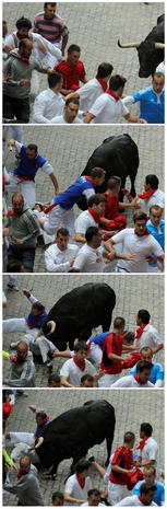 """Running of the Bulls"" in Pamplona, Spain"