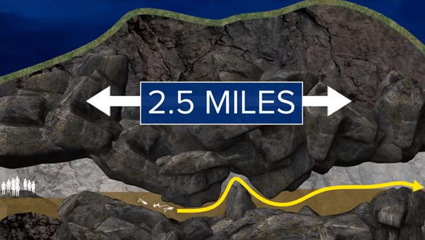 This graphic illustrates the escape route that rescuers are taking to free 12 boys and their soccer coach from a flooded cave in Thailand.