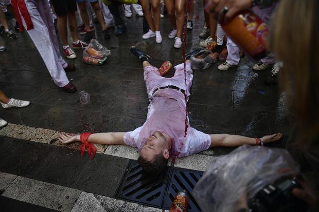 Spain Running of the Bulls Festival