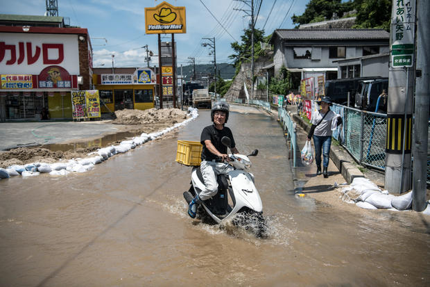 Historic Heavy Rain And Landslides Hit Japan