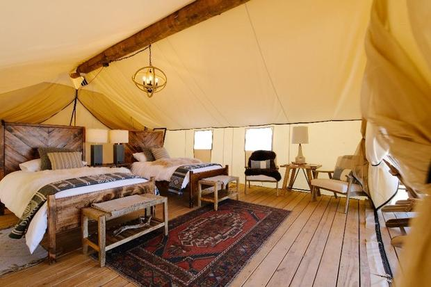 Gone glamping: Luxury tents offer an indulgent retreat in