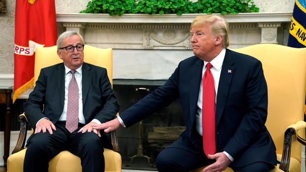 Trump says he hopes to strike trade deal with Europe