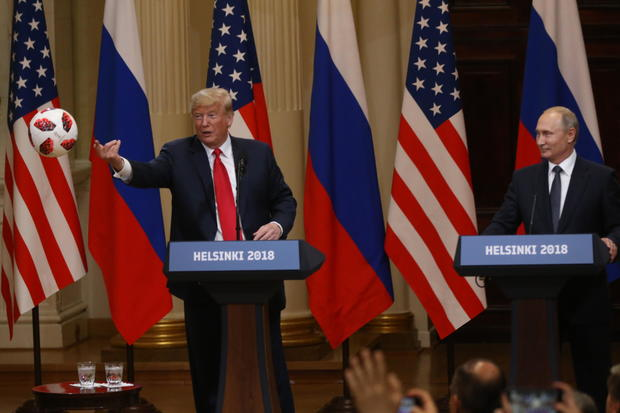 U.S. President Donald Trump Meets Russian President Vladimir Putin in Helsinki