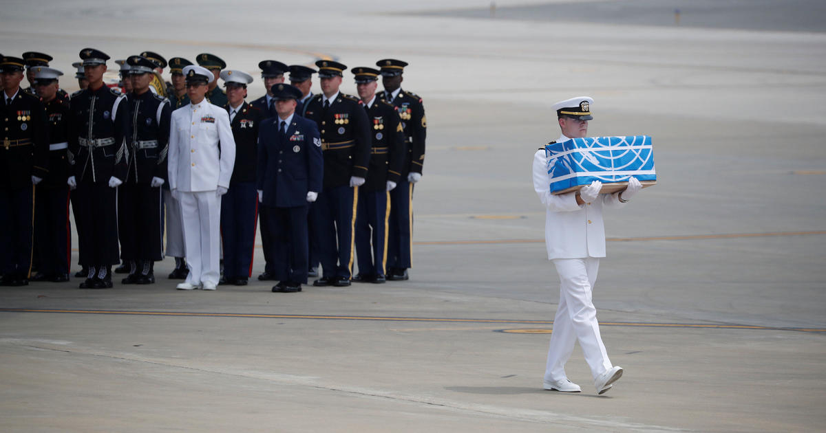 North Korea Hands Over Remains Of Korean War Soldiers To Us Cbs News