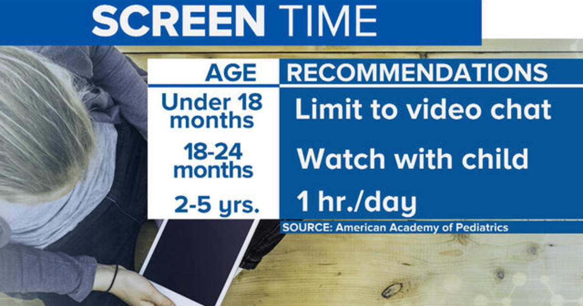 Max of 2 hours of screen time a day recommended for kids