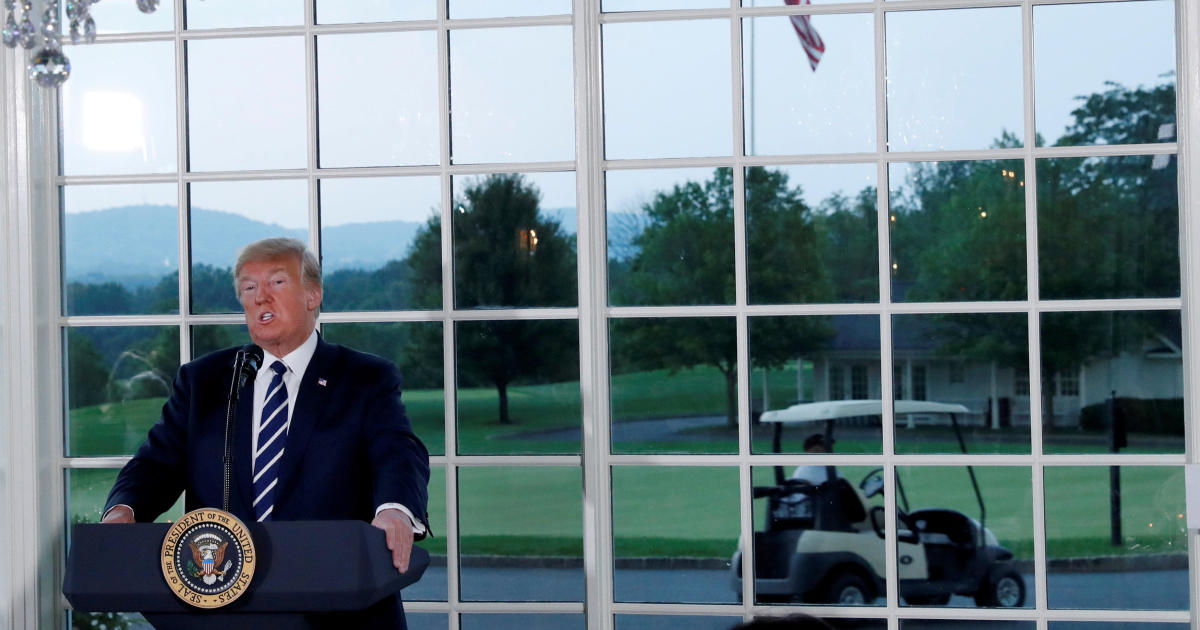 Trump, at his golf membership in New Jersey, is intent on projecting he's laborious at work thumbnail