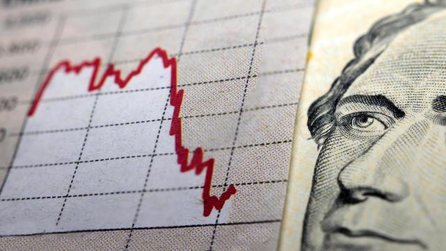Stock Market Graph & dollar bill