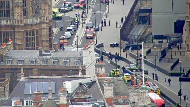 Pedestrians injured after car crash near Houses of Parliament