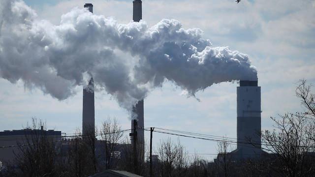 Emissions Spew From Coal Fired Power Plant