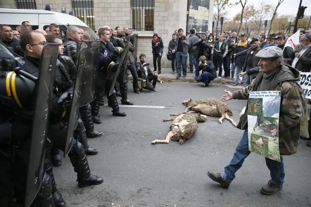 FRANCE-ENVIRONMENT-FARMING-ANIMALS-PROTEST