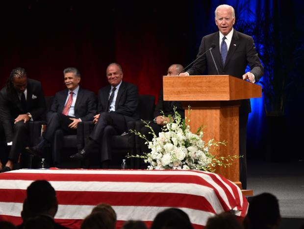 John McCain memorial, Joe Biden