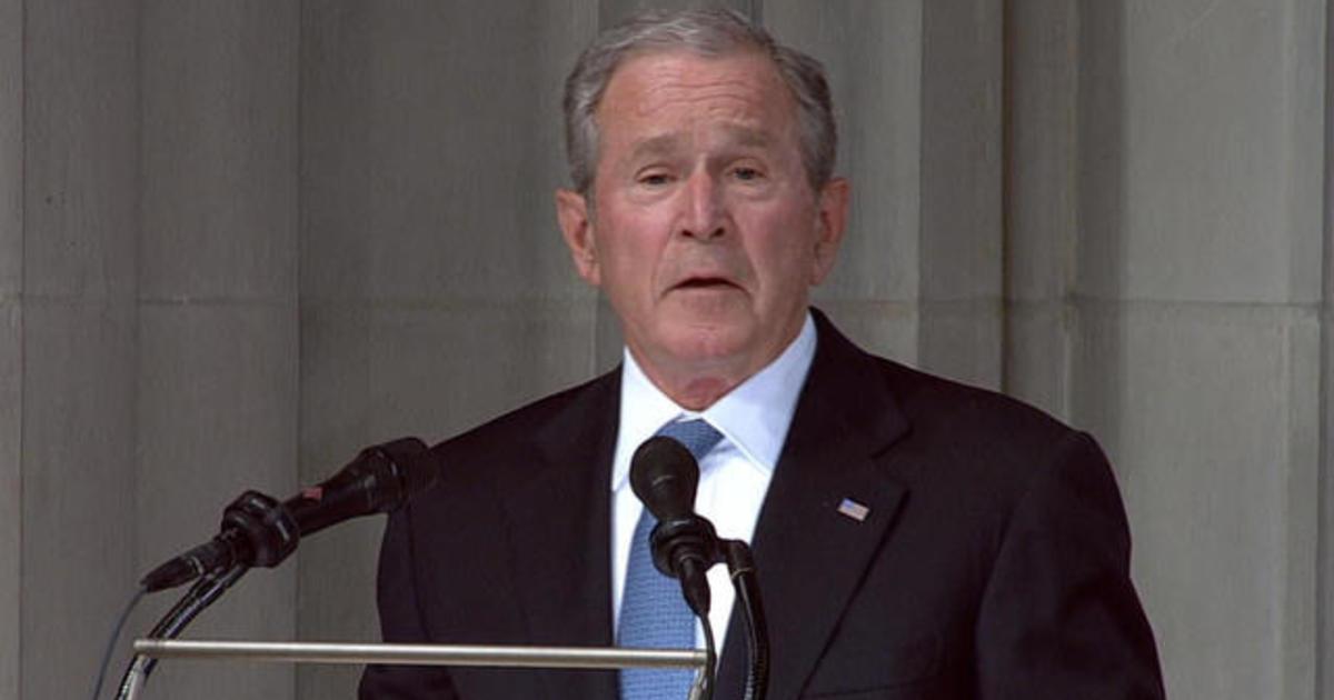 Former President George W Bush Delivers An Emotional Eulogy At Sen