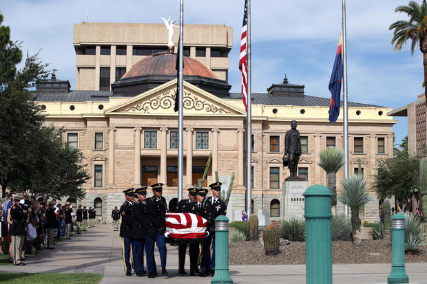 Memorial Service Held For Sen. John McCain At North Phoenix Baptist Church