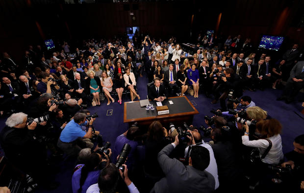 U.S. Supreme Court nominee judge Brett Kavanaugh takes his seat for his Senate Judiciary Committee confirmation hearing on Capitol Hill in Washington