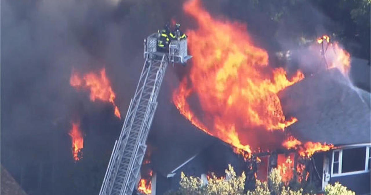 Flames from gas explosions engulf 60+ structures in 3 Mass  towns