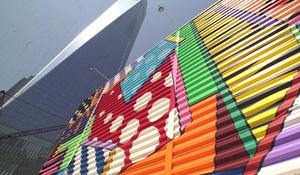 Decorating hallowed ground with street art