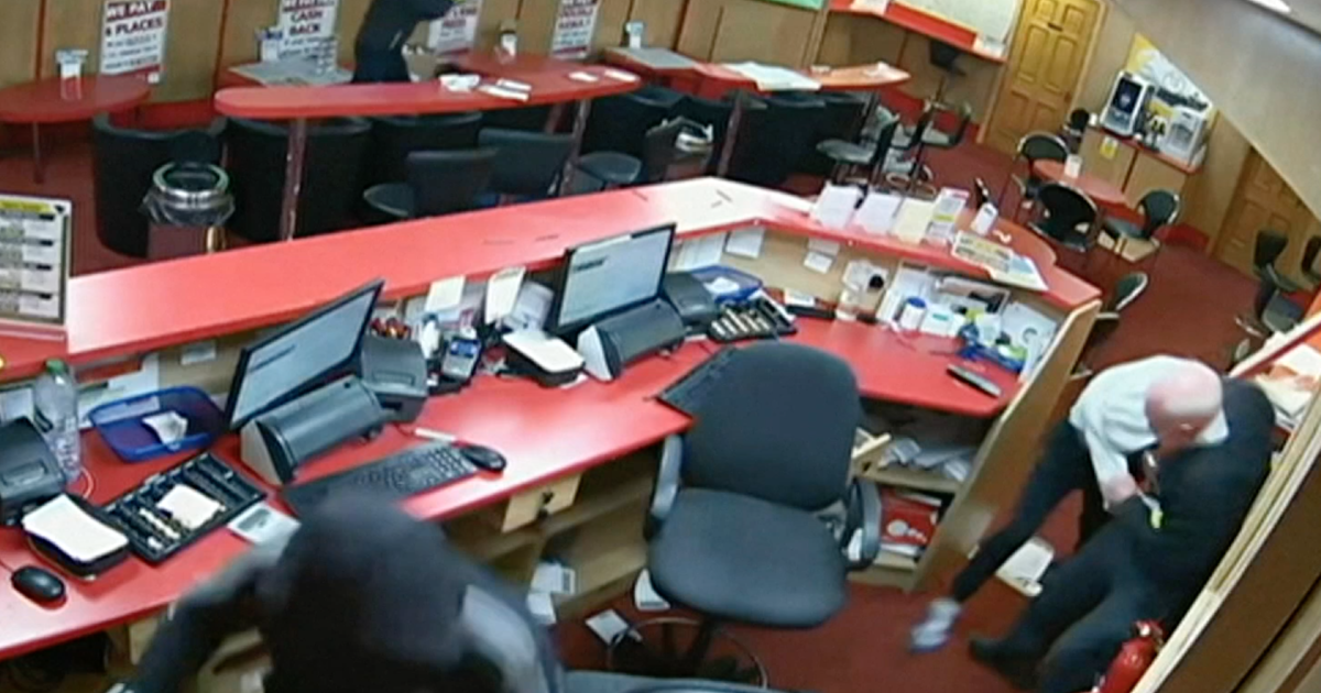 cbsnews.com - 85-year-old man fights off three would-be robbers at betting shop