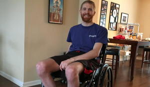 Paralyzed man walks the length of four football fields thanks to experimental device