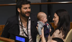Newborn baby steals the show at the U.N. General Assembly