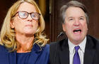 Christine Blasey Ford, with lawyers Debra S. Katz, left, and Michael R. Bromwich, answers questions at a Senate Judiciary Committee hearing on Thursday, September 27, 2018 on Capitol Hill