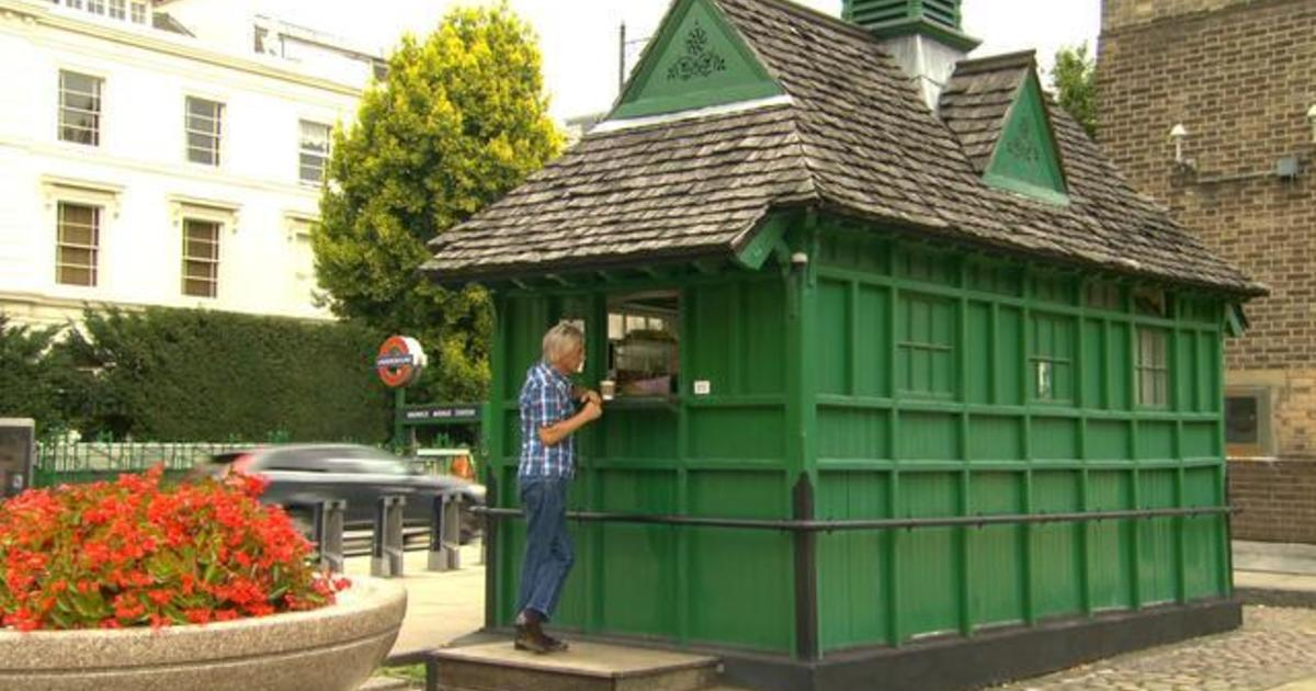 Inside the small green shelters that feed London's cab drivers