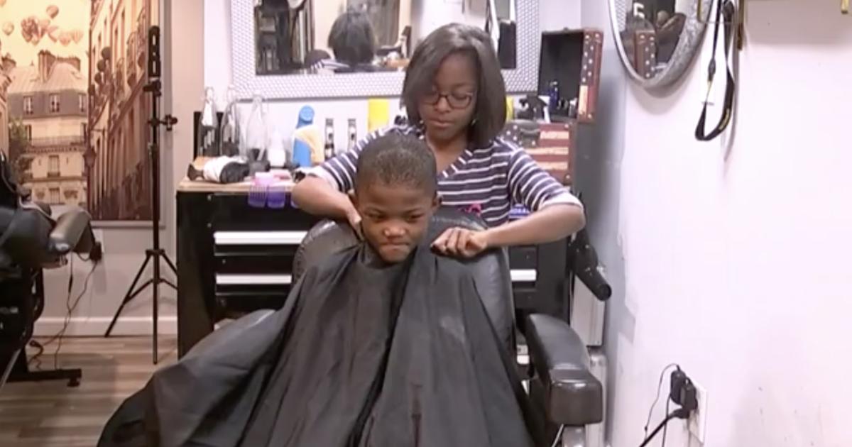 8 Year Old Girl Becomes Barber Gives Free Haircuts To Neighborhood