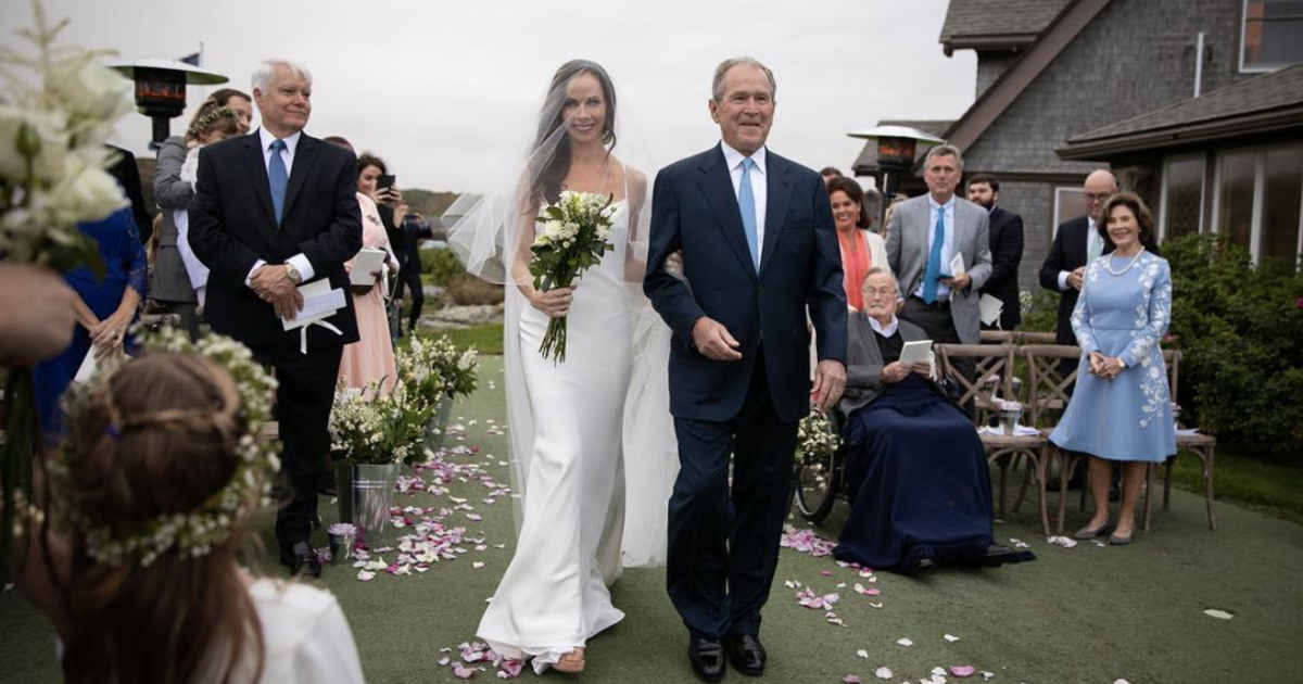 "Extinct first daughter Barbara Bush gets married in ""very secret wedding"" thumbnail"