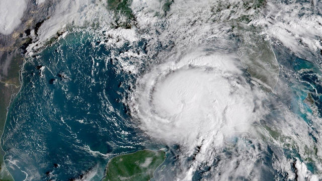 NOAA handout photo of Hurricane Michael seen in the Gulf of Mexico