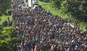 Migrant caravan continues march toward U.S.