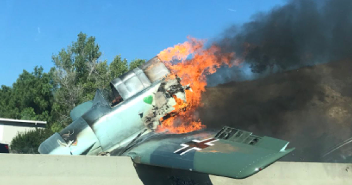 Plane crash on 101 Freeway: Both directions of 101 Freeway closed in