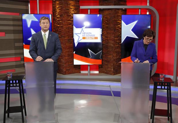 Nevada Senate Candidates Republican Sen. Dean Heller And Democratic Challenger Rep. Jacky Rosen Debate In Las Vegas
