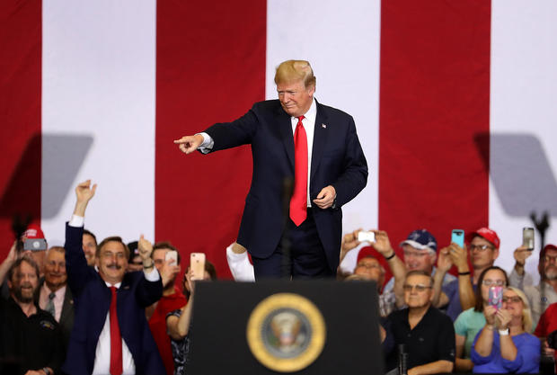 President Trump Holds Rally In Fargo, North Dakota