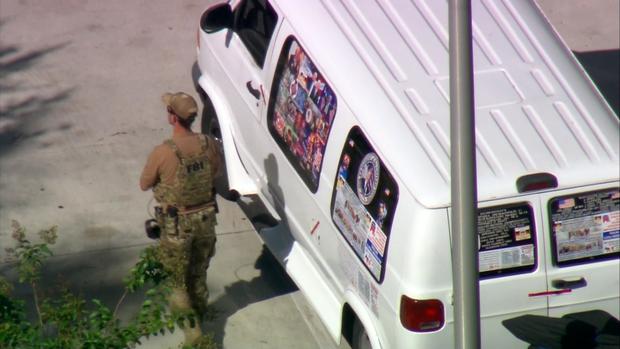 van-image Pics: MAGA bomber had American Top Team stickers on his creepy van