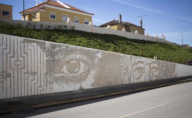 Street artist Vhils' chiseled portraits